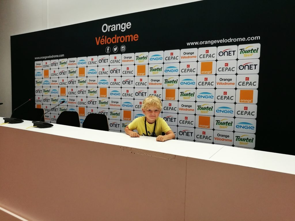 Orange Vélodrome Press room interview