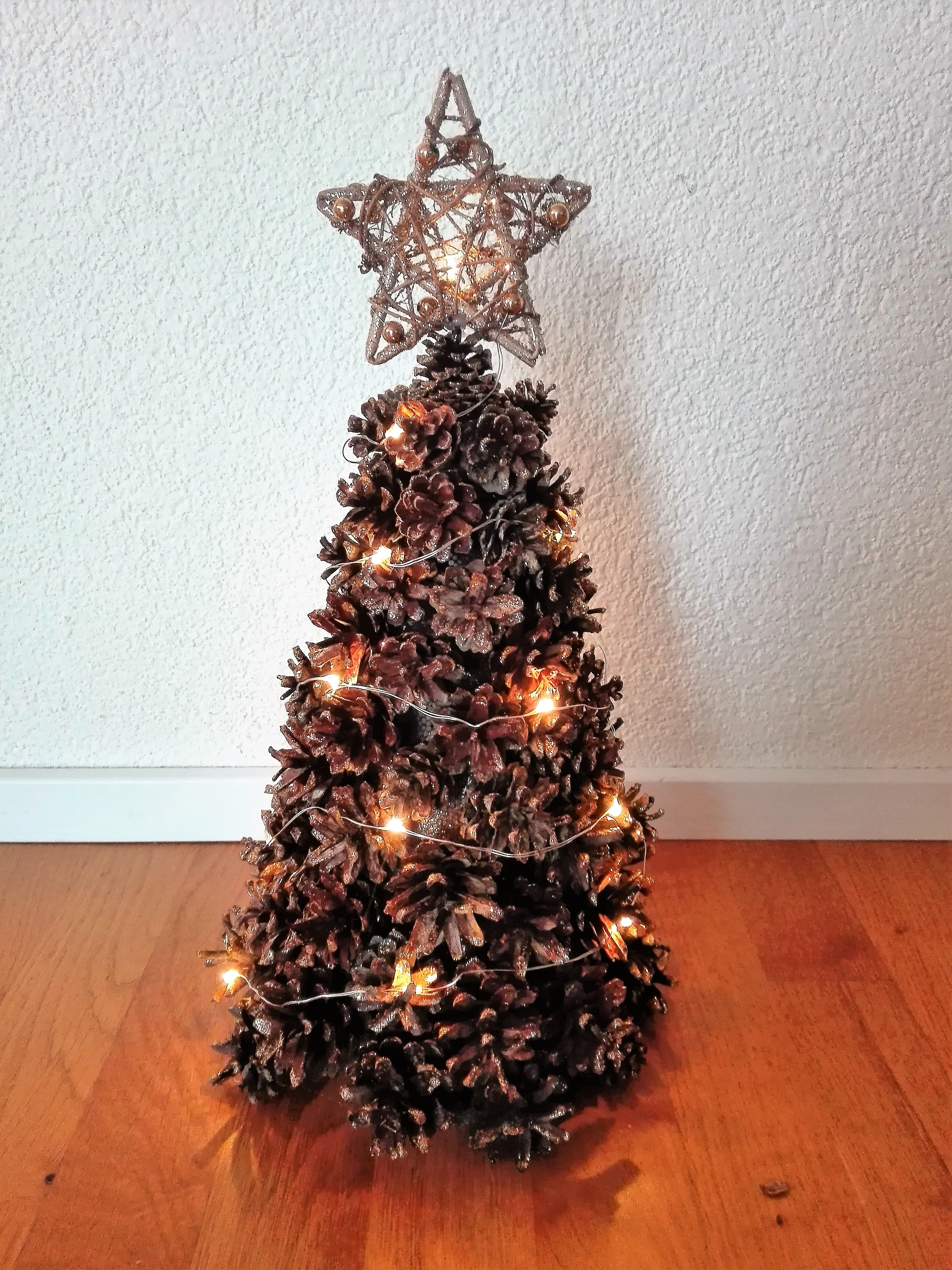 Diy Lighted Pinecone Christmas Tree Our Swiss Experience