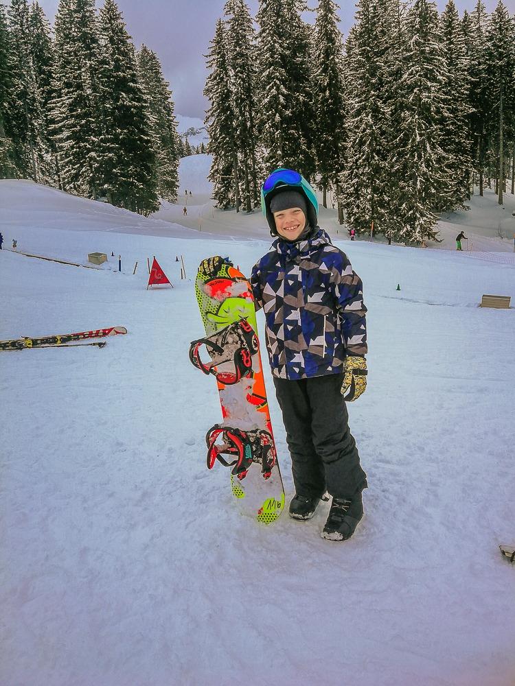 kind snowboard lenk ski schule