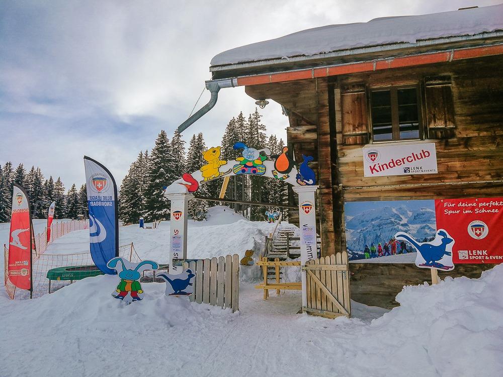 lenk ski schule kinderclub hütte