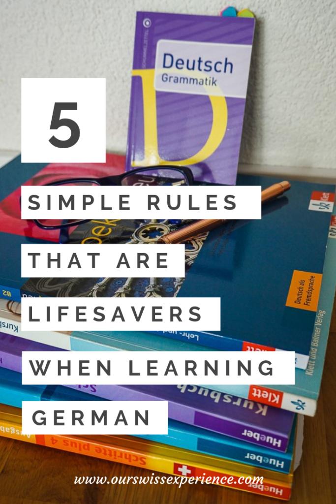 5 jednoduchých pravidel pro učení němčiny