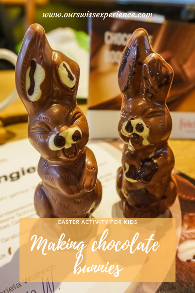 Making Easter Chocolate Bunnies